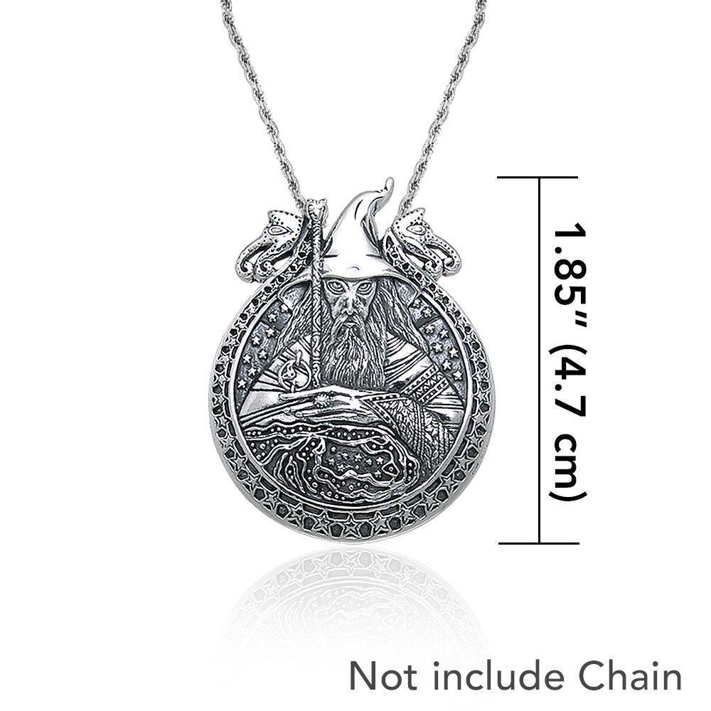 In the magical world of Wizardry ~ Sterling Silver Jewelry Pendant