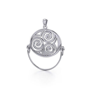 Celtic Triskele Silver Charm Holder Pendant TP921