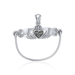 Celtic Triskele Claddagh Charm Holder Pendant TP942