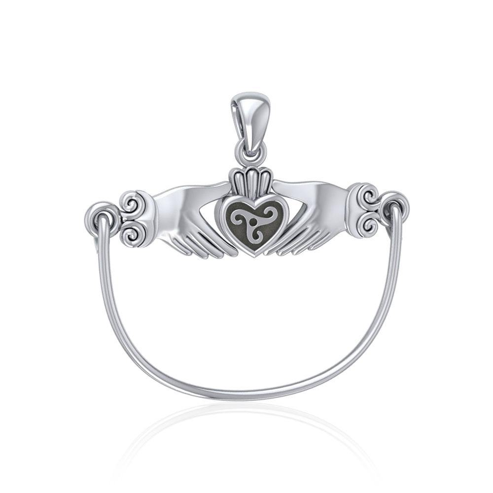 Celtic Triskele Claddagh Charm Holder Pendant