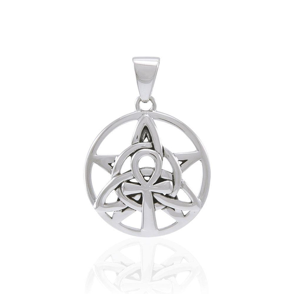 Ankh Triquetra Silver Pendant TPD4764 peterstone.
