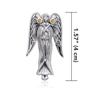 Inspirational Angel Silver Pendant TPD124 peterstone.