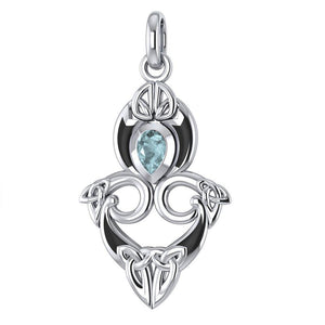 A first-rate lifetime tradition Silver Triquetra Pendant Jewelry with Gemstones TPD1265