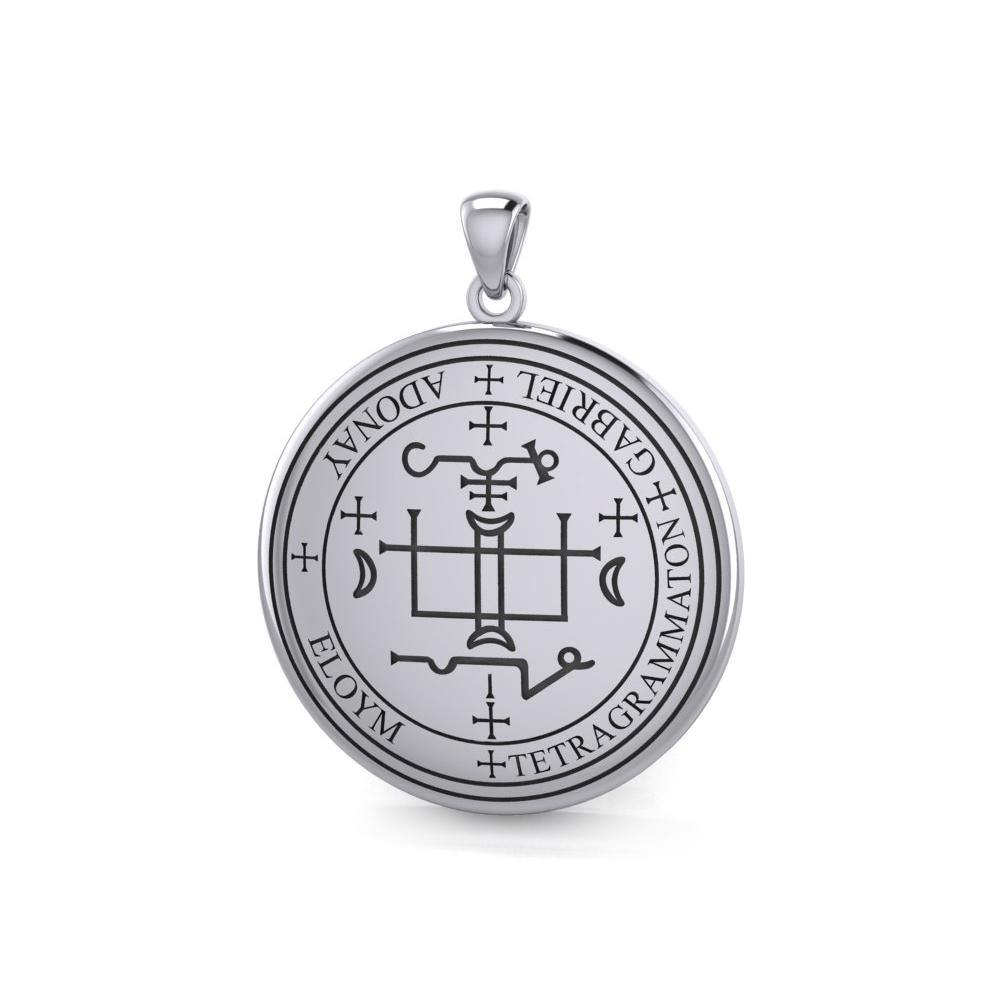 Sigil of the Archangel Gabriel Sterling Silver Pendant TPD2819