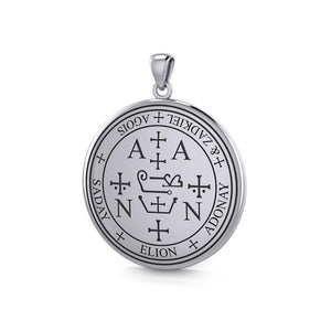Sigil of the Archangel Zadkiel Sterling Silver Pendant TPD2821