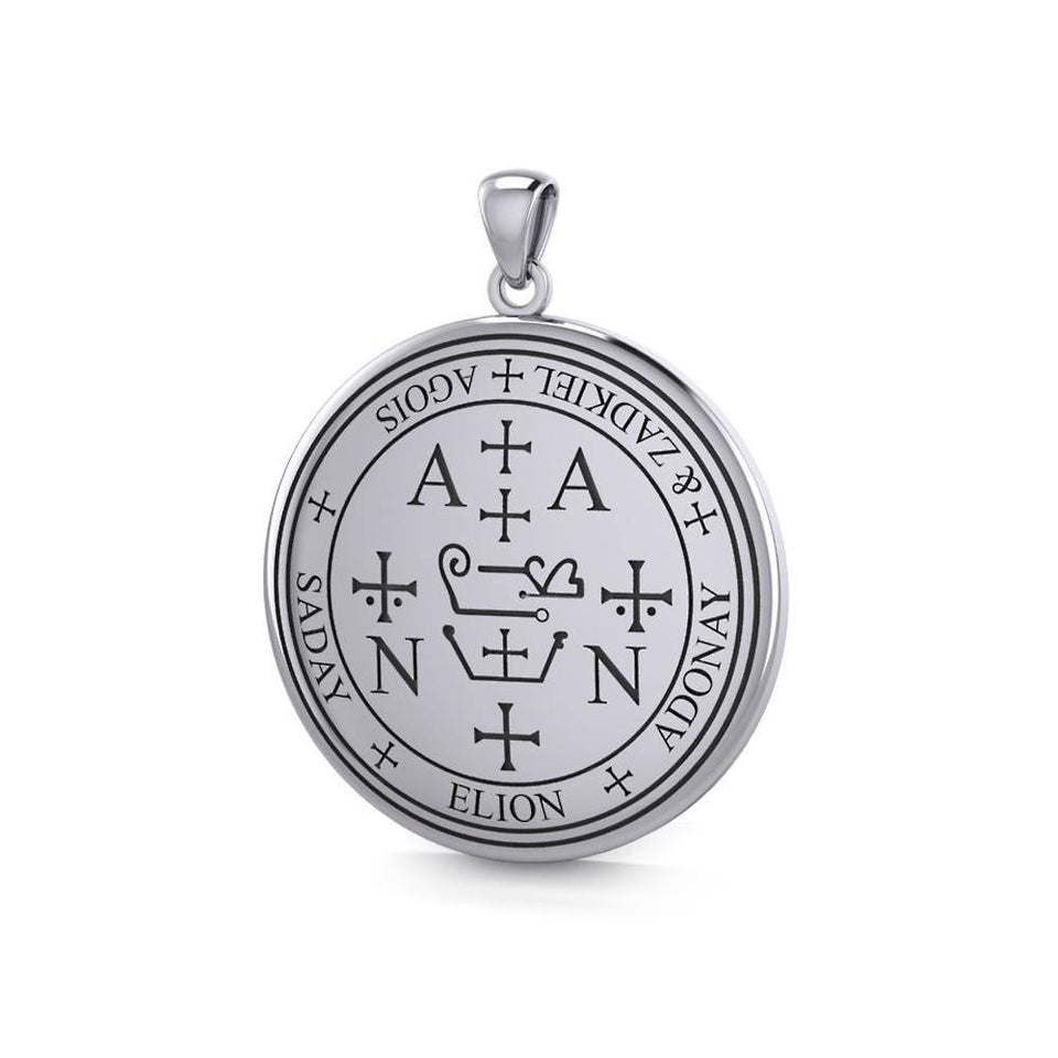 Sigil of the Archangel Zadkiel Sterling Silver Pendant TPD2821 peterstone.