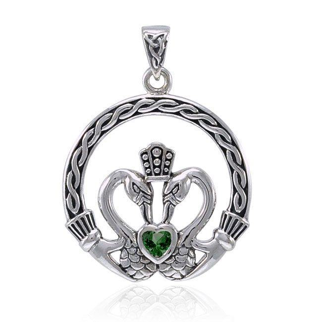 Celtic Swan Claddagh Pendant TPD3608