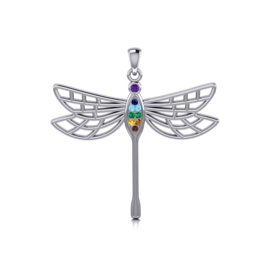 Lovely Spiritual Chakra Dragonfly Pendant TPD4214 peterstone.