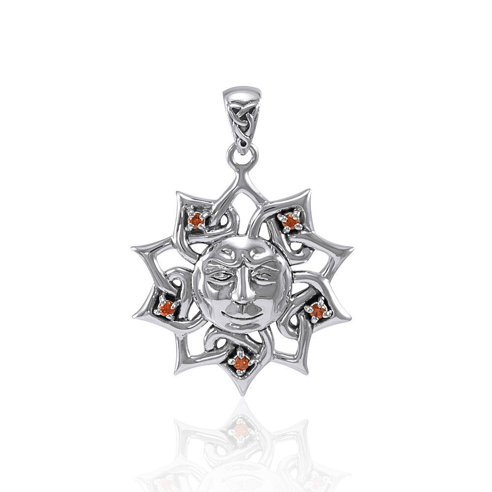 Sun God Sterling Silver with Gemstone TPD4360