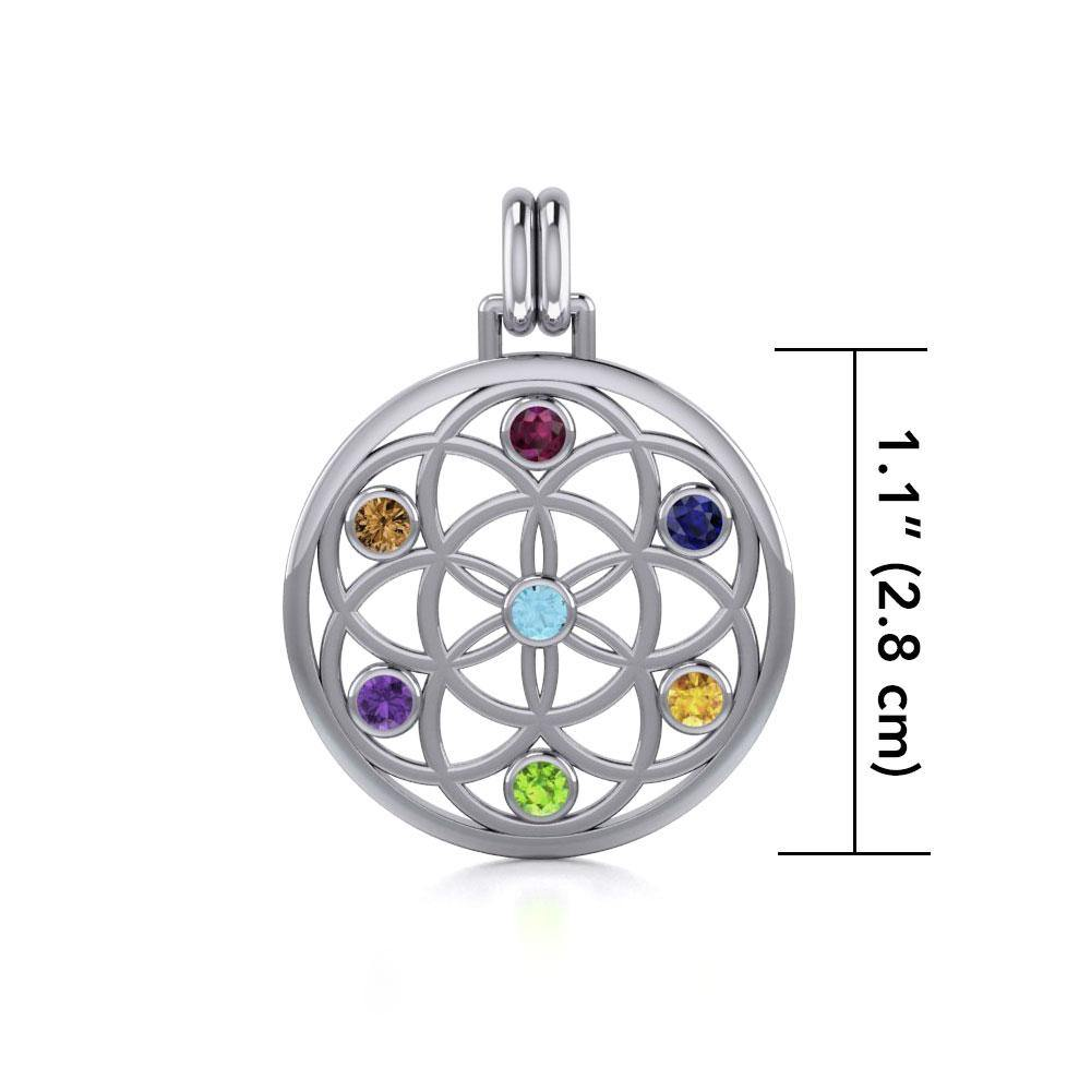 Flower of Life with powerful life force Chakra stone TPD452