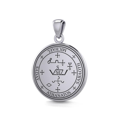 Sigil of the Archangel Michael Sterling Silver Small Pendant TPD4573 peterstone.