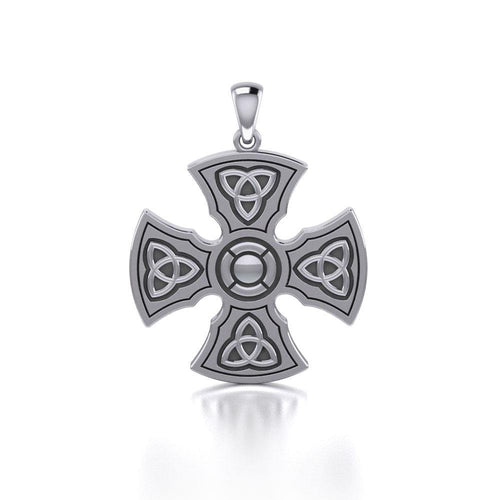 Brigid Ashwood Templar Celtic Cross Silver Pendant TPD458 peterstone.