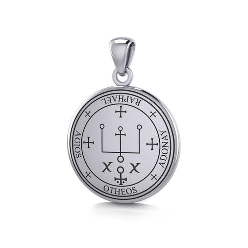 Sigil of the Archangel Raphael Small Sterling Silver Pendant TPD4784