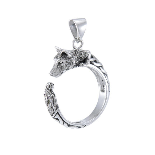 Sterling Silver Celtic Wolf Pendant TPD4851 peterstone.