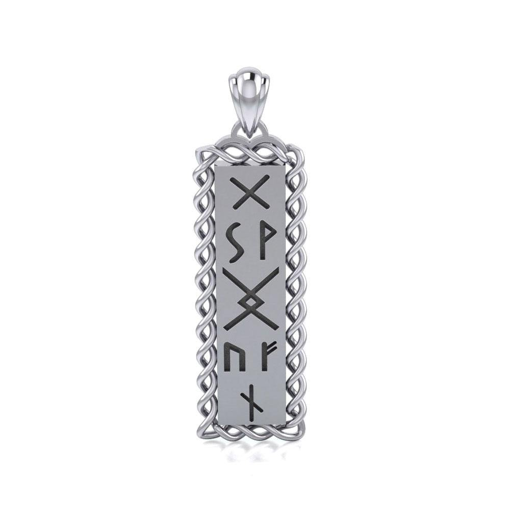 Runes of Woden Sterling Silver Pendant TPD5027