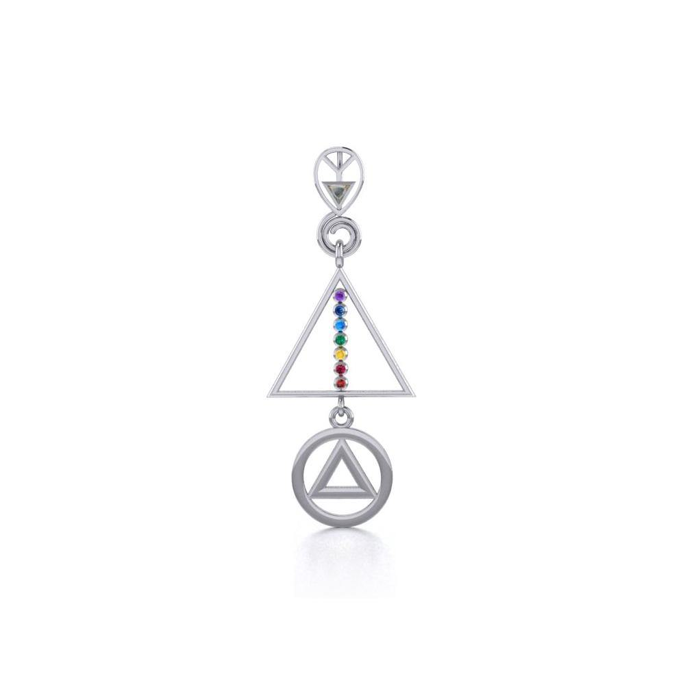 Recovery Chakra Silver Pendant with Gemstone TPD5093