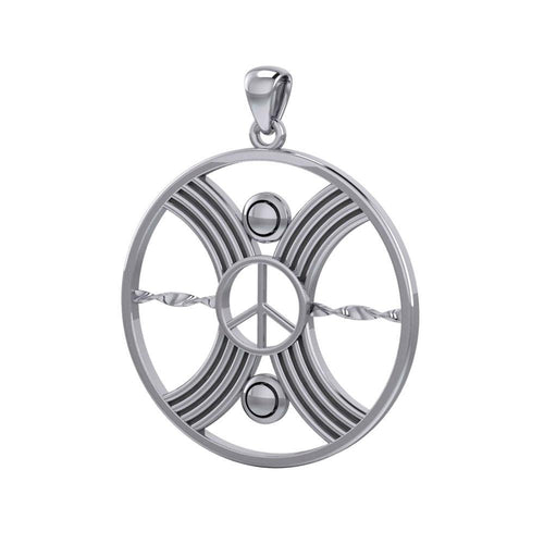 The Balance Unity of Peace Silver Pendant TPD5134 peterstone.