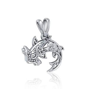Swim through the endless journey ~ Sterling Silver Hammerhead Shark Filigree Pendant Jewelry TPD5146 peterstone.