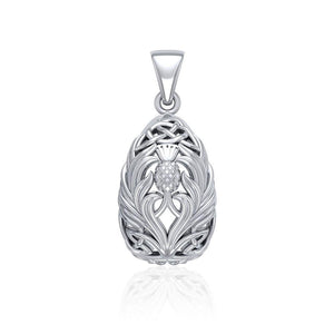 Teardrop Shape Scottish Thistle with Celtic knotwork TPD5164 peterstone.