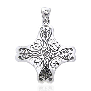 Celtic Cross of the Holy Spirit Silver TPD966 peterstone.