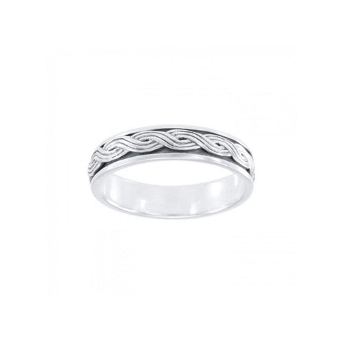 Celtic Knotwork Spinner Ring TR1696 peterstone.
