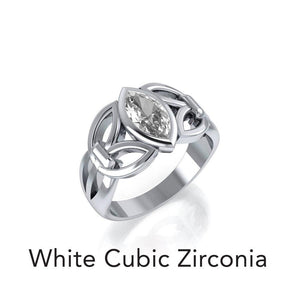 Celtic Knotwork Sterling Silver Ring TR1750 peterstone.
