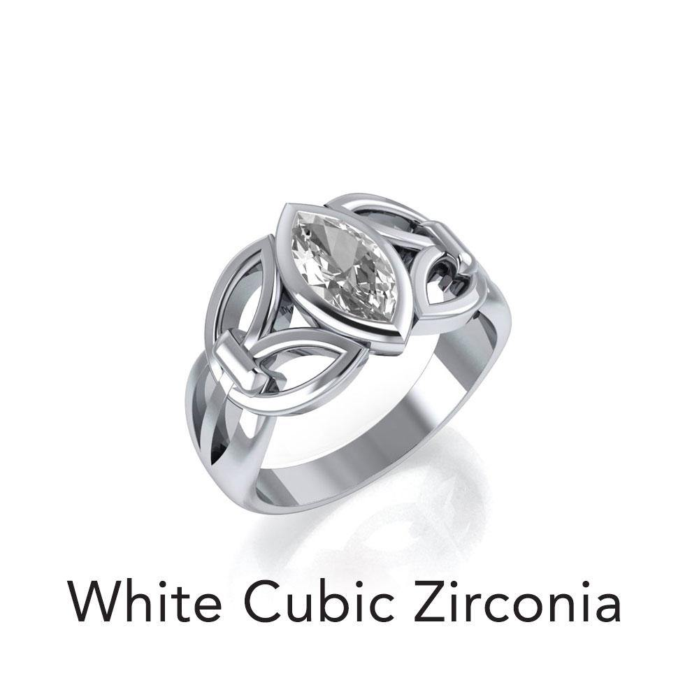 Celtic Knotwork Sterling Silver Ring TR1750