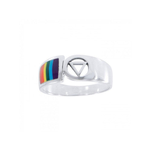Rainbow Triangle Ring TR285 peterstone.