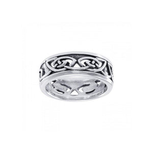 Celtic Knotwork Silver Ring TR3411 peterstone.