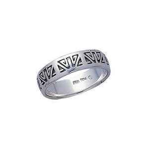 Engraved Silver Ring TR3427