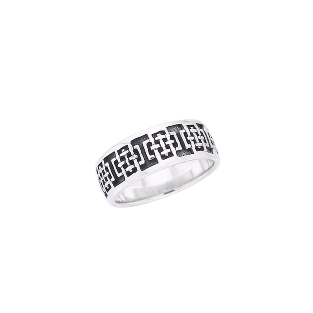 Celtic Square Silver Ring