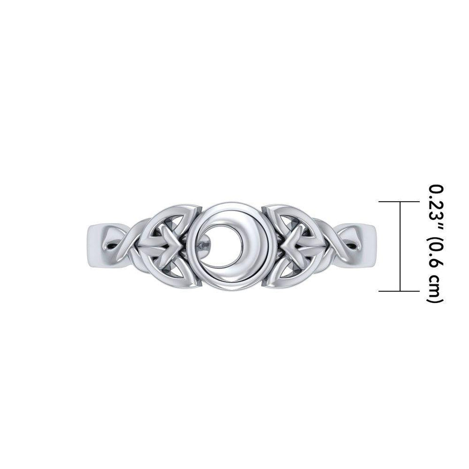 Celtic Knot Crescent Moon Toe Ring TR3715