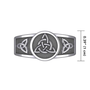 Interconnected Message in Triquetra ~ Sterling Silver Ring TR3811 peterstone.