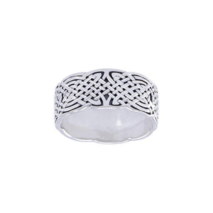 Celtic Knotwork Silver Ring TR671 peterstone.