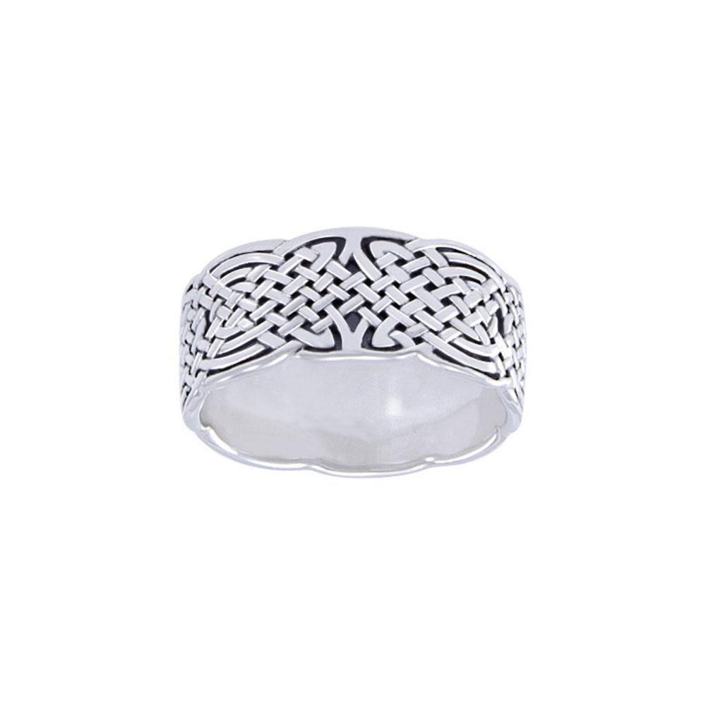 Celtic Knotwork Silver Ring TR671