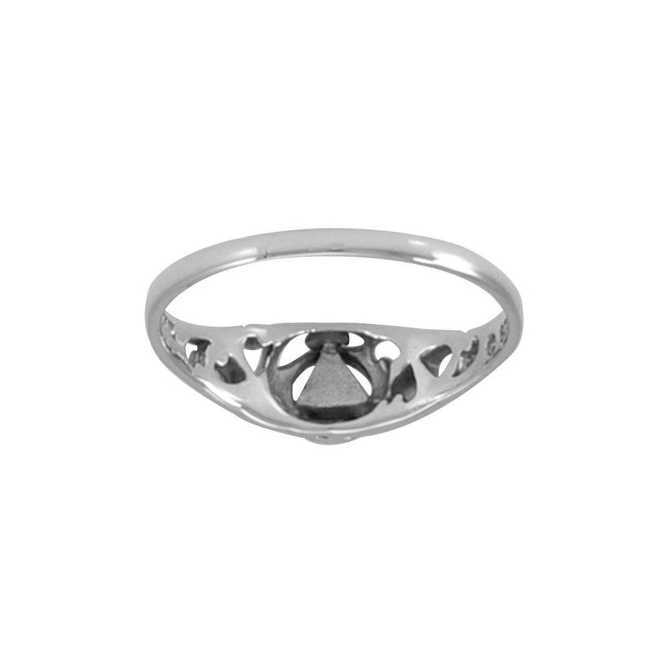 AA Recovery Silver Ring TRI1270 peterstone.
