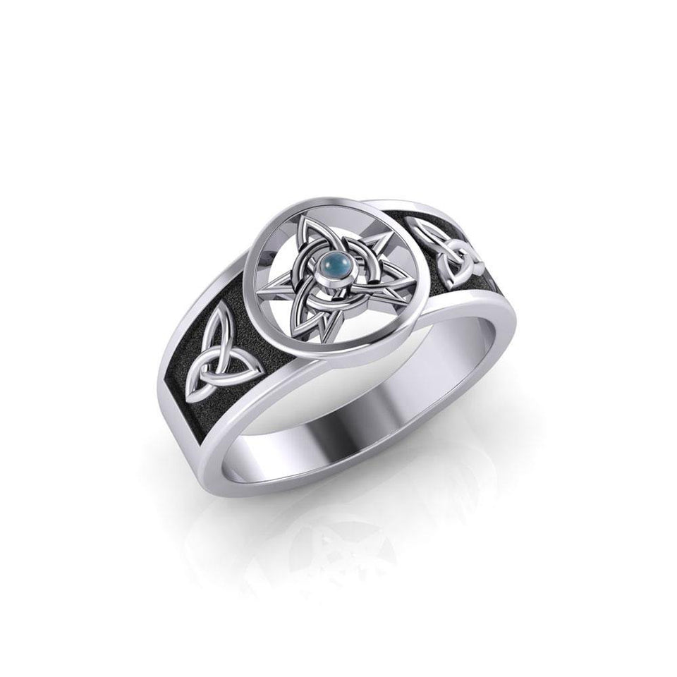 Celtic Trinity The Star Silver Ring TRI058 peterstone.