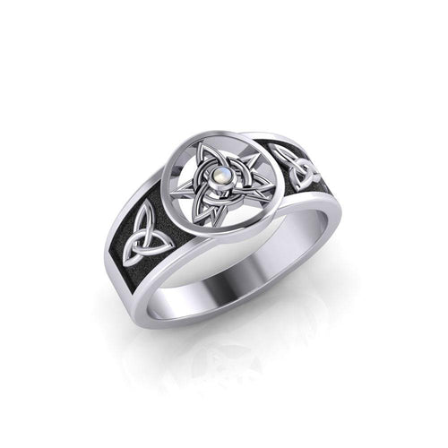 Celtic Trinity The Star Silver Ring TRI058