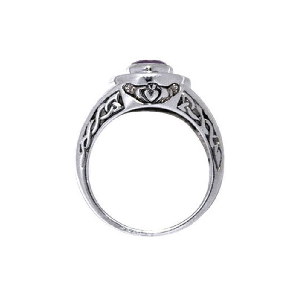 Celtic Claddagh Knotwork Ring TRI086