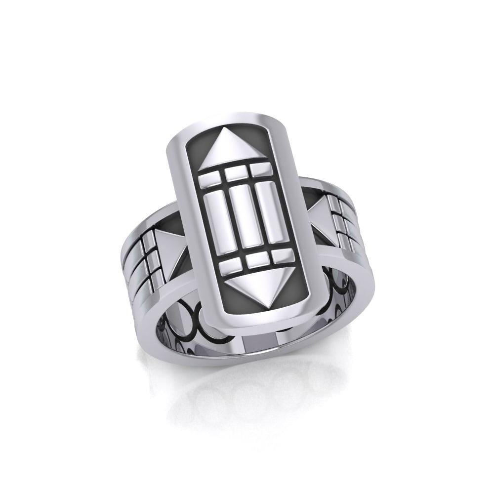 Atlantis Sterling Silver Ring TRI1019 peterstone.