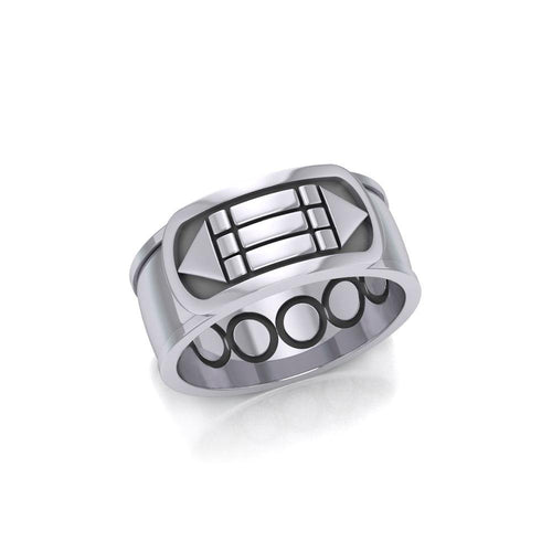 Atlantis Sterling Silver Ring TRI1021 peterstone.
