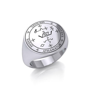 Sigil of the Archangel Michael Sterling Silver Ring TRI1202 peterstone.