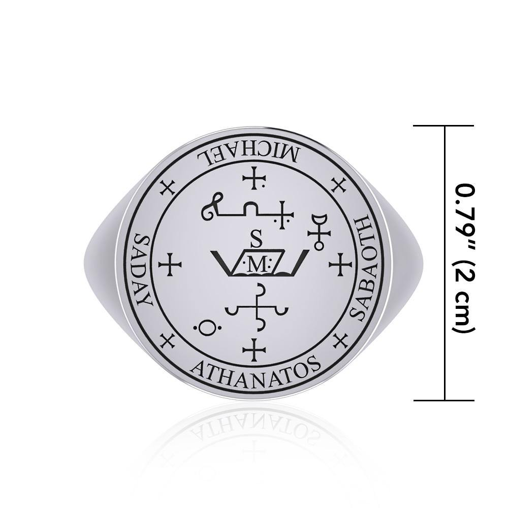 Details about  /Archangel Michael .925 Sterling Silver Ring by Peter Stone