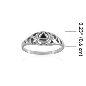 AA Recovery Silver Ring TRI1270