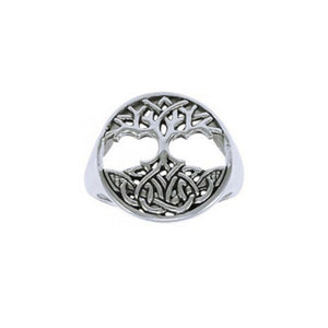 The Tree of Life in its Never-ending journey ~ Sterling Silver Jewelry Pendant TRI1277 peterstone.
