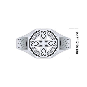 A traditional symbol of faith and spirituality ~ Sterling Silver Jewelry Celtic Cross Ring TRI1316