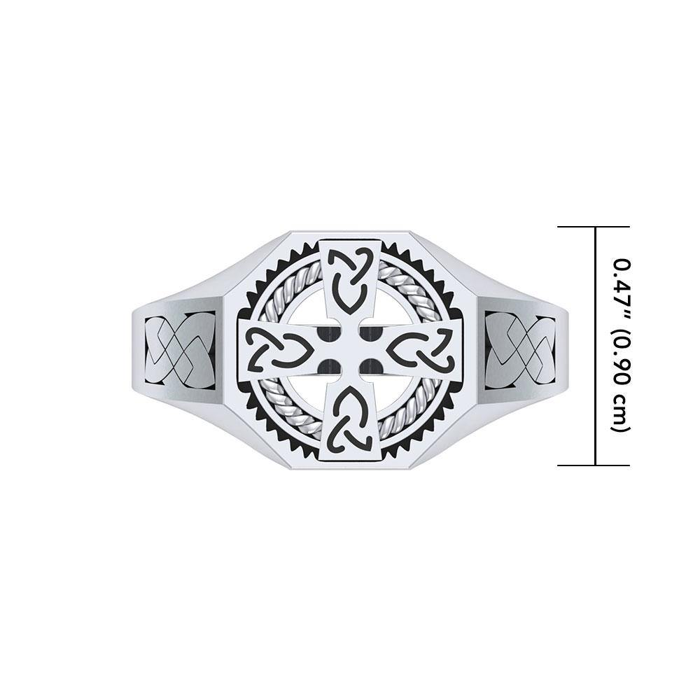 A traditional symbol of faith and spirituality ~ Sterling Silver Jewelry Celtic Cross Ring