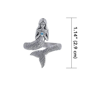 Seek your imagination with the Sea Mermaid ~ Sterling Silver Wrap Ring TRI1328