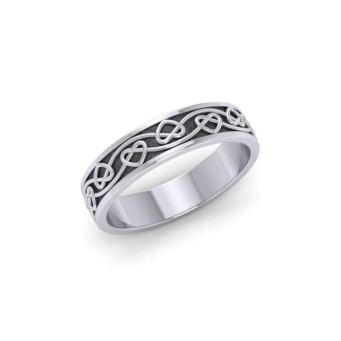 Celtic Knotwork Silver Ring TRI1345