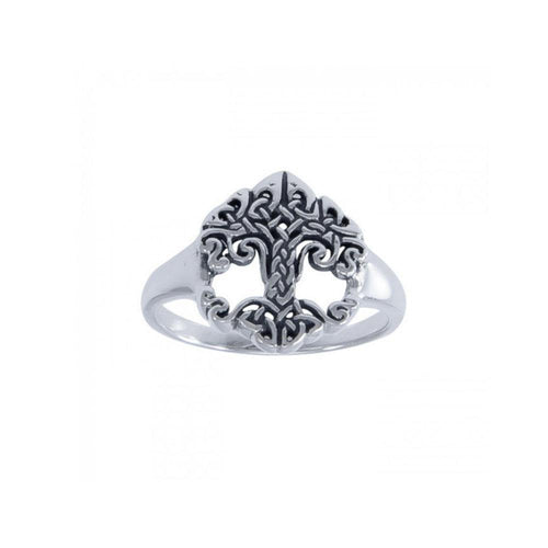 The Revered Tree of Life by Cari Buziak ~ Sterling Silver Ring TRI1533 peterstone.
